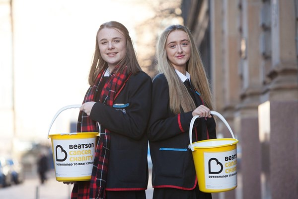 Beatson Cancer Charity Bucket collecting volunteer